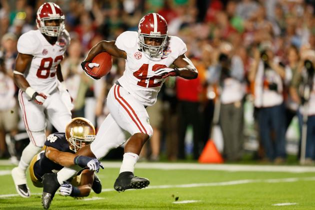 Alabama Football: Projecting the 2013 RB Depth Chart