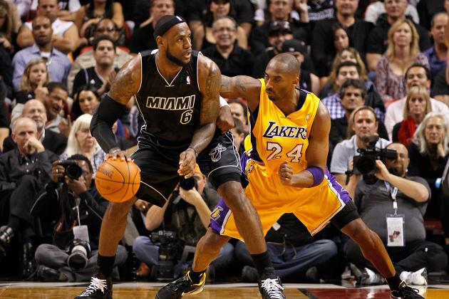 Comparing Kobe Bryant and LeBron James, by the Numbers