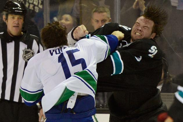 NHL 2013: Power Ranking the 10 Best Fights Early in the 2013 Season