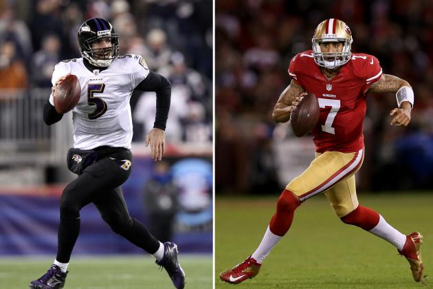 Joe Flacco vs. Colin Kaepernick: Which Quarterback Has Edge in Super Bowl XLVII?