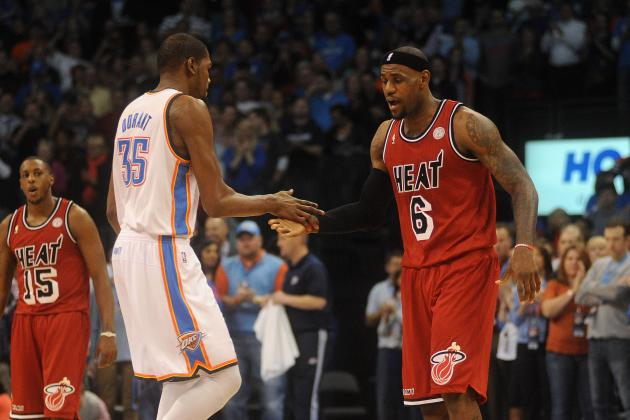 Updated NBA MVP Odds: Can Kevin Durant Really Dethrone LeBron James?