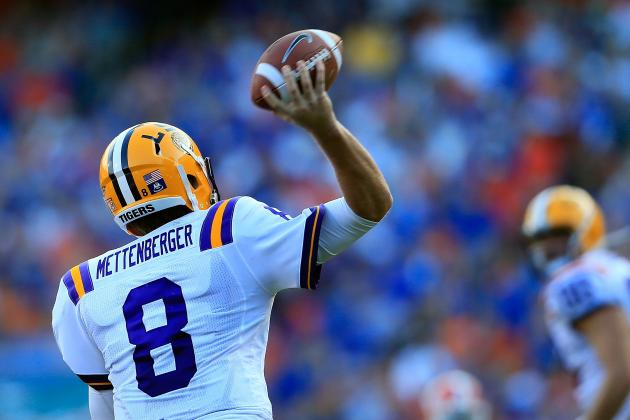 LSU Football: 5 Games Zach Mettenberger Will Need to Win with His Arm in 2013