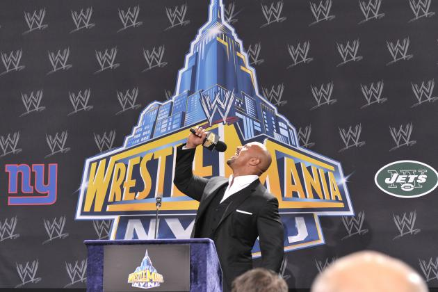 A Look at The Rock's History at WrestleMania Through the Years