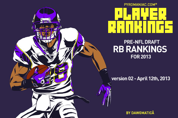 2013 Fantasy Football: Pre-Draft Rankings on the Top 70 Running Backs