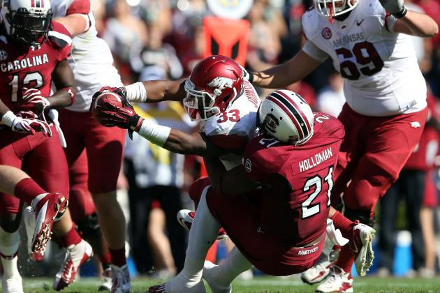 DeVonte Holloman: Video Highlights for Former South Carolina OLB