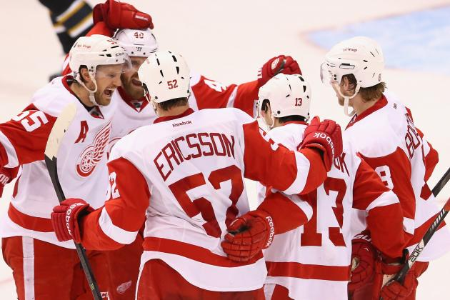 Detroit Red Wings' 5 Most Important Players in Playoff Series vs. Anaheim Ducks