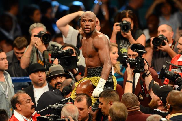 Floyd Mayweather vs. Robert Guerrero: Most Dazzling Images from Full Fight Card