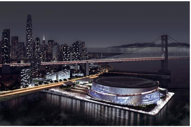 Check out the Golden State Warriors' Sleek New Arena Renderings
