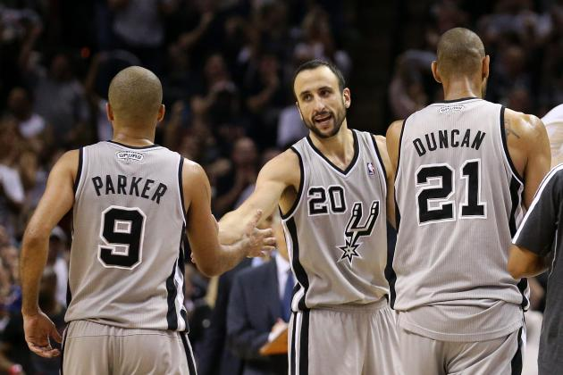 Where Tim Duncan's Big 3 Ranks with Greatest NBA Playoff Trios