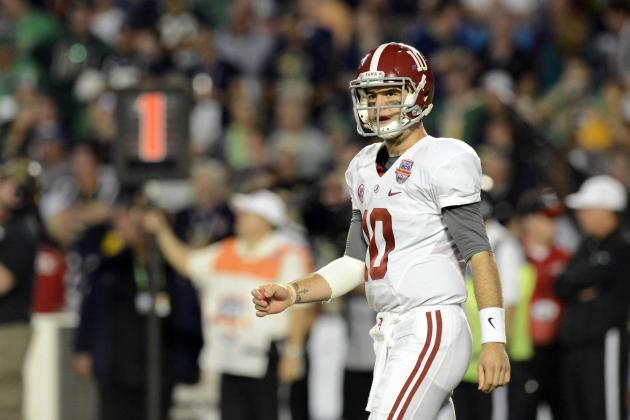 Alabama Football: Over/Under Stat Projections for AJ McCarron in 2013