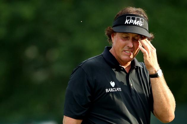 Ranking the Most Heartbreaking Moments of Phil Mickelson's Career