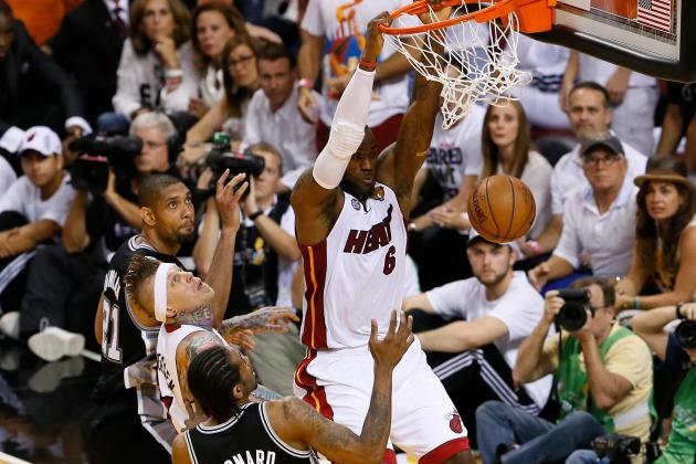Ranking Miami Heat-San Antonio Spurs Epic Game 6 with Best NBA Finals Games Ever