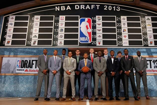 50 Amazing Pictures of NBA Superstars on Draft Day