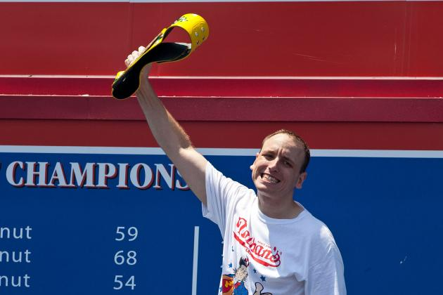 Nathan's Hot Dog Eating Contest 2013: Best Images from This Year's Contest