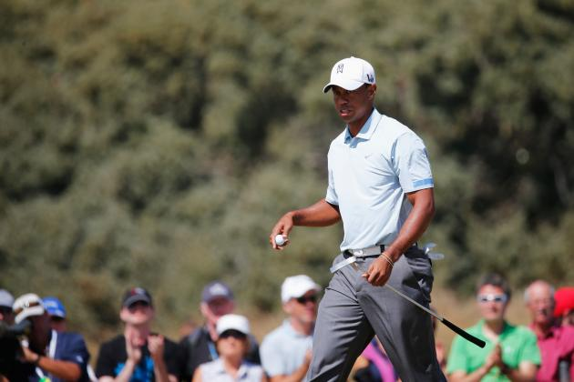 Tiger Woods at British Open 2013: Round 2 Performance Grades at Muirfield