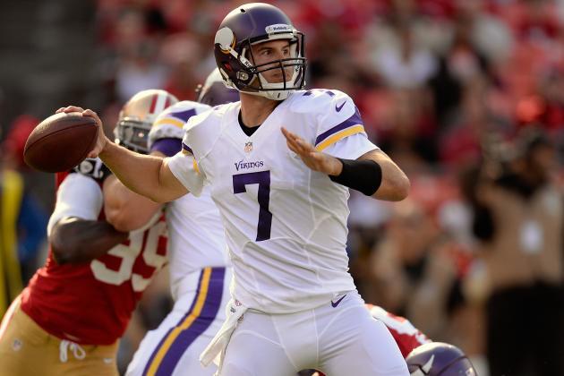 NFL Jersey's Pro Line Men's Minnesota Vikings Joe Webb Team Color Jersey - Purple