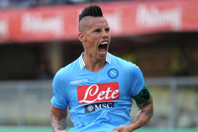 Power Ranking Europe's Top 10 Players of Weekend: Hamsik, Vidal & More