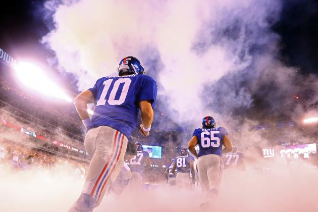 Full Week 1 Stat Predictions for New York Giants' Offense