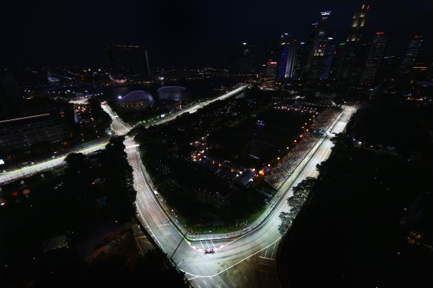 Singapore F1 Grand Prix 2013: Results, Times for Practice and Qualifying