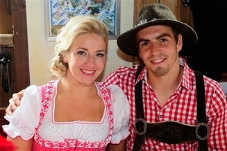 Pep Guardiola and Bayern Munich Players, WAGs Relax at Oktoberfest