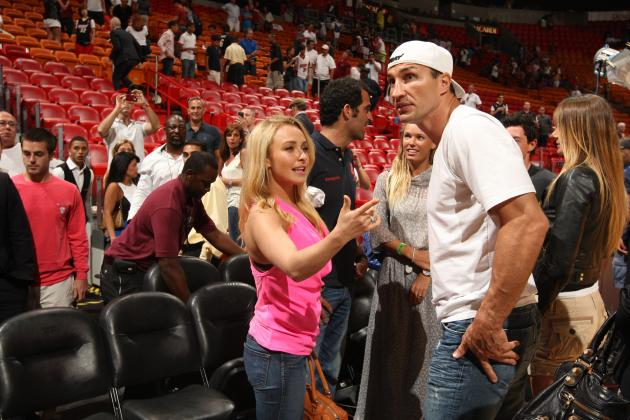 Giant Athletes and Their Tiny WAGs