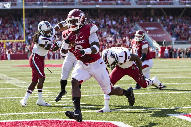 Alabama vs. Arkansas: Keys for the Tide's Front Seven to Slow Down Alex Collins