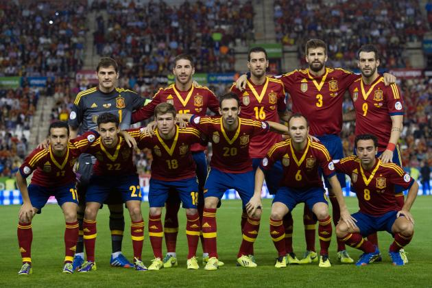 Spain World Cup Roster 2014: Updates on 23-Man Squad and Starting XI Projections