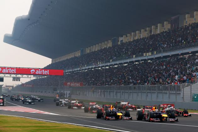 Ranking the Top 10 Possible Indian Grand Prix Winners According to Their Odds