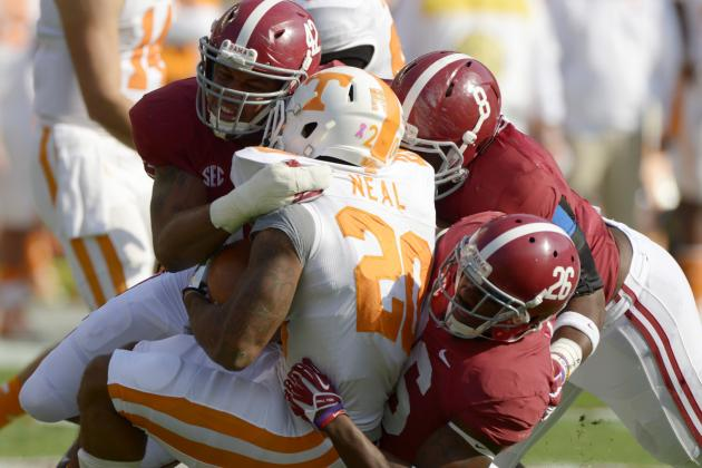 Tennessee vs. Alabama: 10 Things We Learned in Vols' Loss