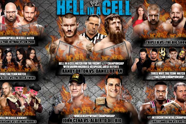 WWE Hell in a Cell 2013: GSM's Pick, Preview and Potential for Each Match