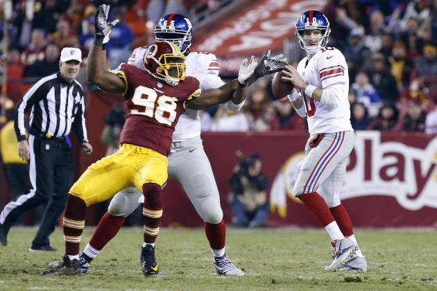 NY Giants vs. Washington Redskins: Full Roster Report Card Grades for New York