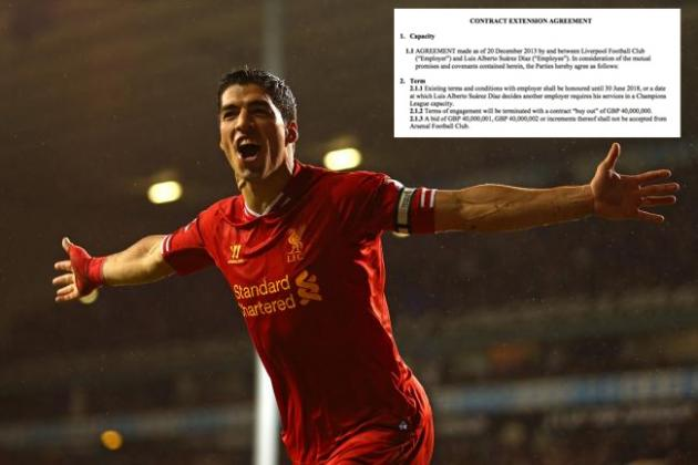 B/R Exclusive: Luis Suarez's New and Fictional Liverpool Contract Leaked!