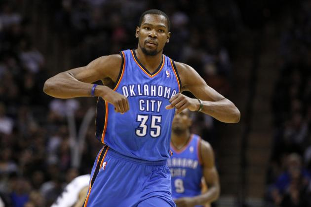 NBA Power Rankings: Kevin Durant Drags Oklahoma City Thunder to No. 1