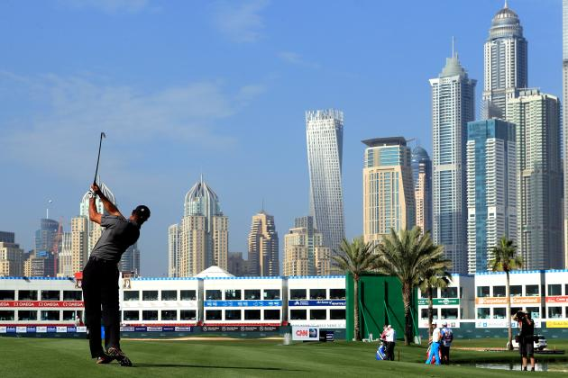 Tiger Woods Leaderboard and Score Updates from Omega Dubai Desert Classic 2014