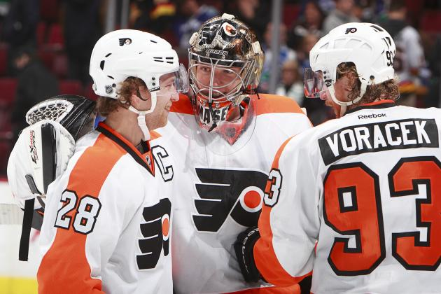 Grades for Philadelphia Flyers' Stars at the Olympic Break