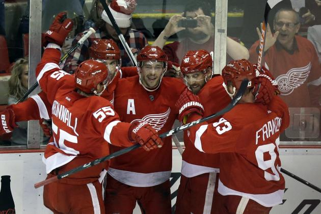 Grades for Detroit Red Wings' Stars at the Olympic Break