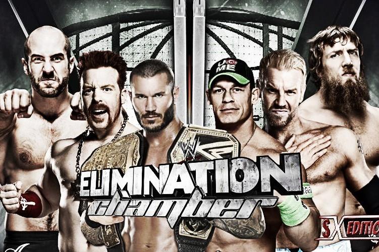 Image result for elimination chamber 2014 poster