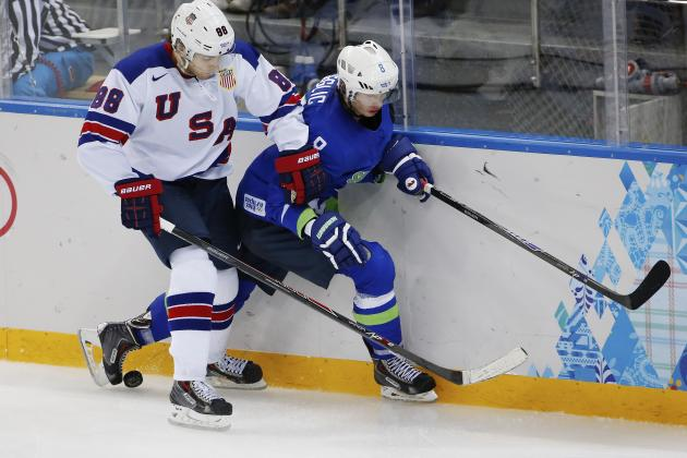 Grades for Every Chicago Blackhawks at the 2014 Winter Olympics so Far