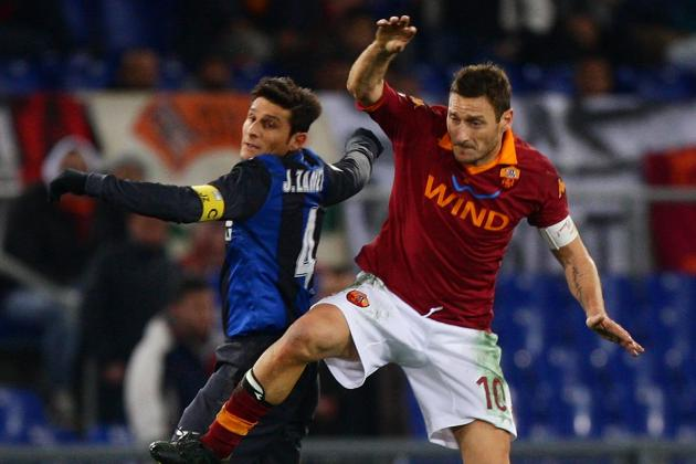 Francesco Totti vs. Javier Zanetti and the 20 Best One-Club Men of Recent Times