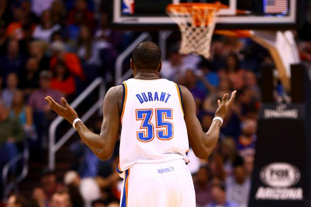NBA Awards Odds 2013-14: Is Kevin Durant a Slam Dunk for MVP?