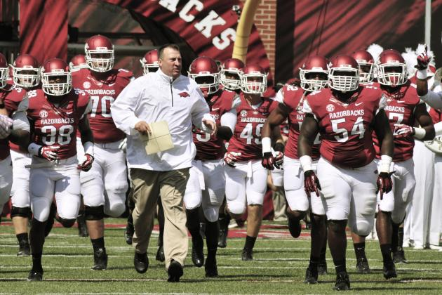 Arkansas Football: Ranking the 5 Hardest Games of the 2014 Schedule