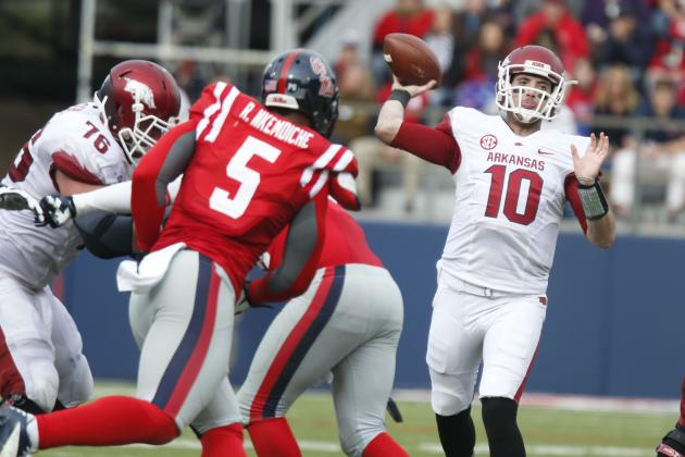 Arkansas Football: Position Battle Tracker for 2014 Season