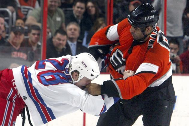 Ranking the Best Fighters in Philadelphia Flyers' History