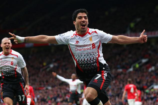 Luis Suarez's 29 Premier League Goals for Liverpool in Pictures