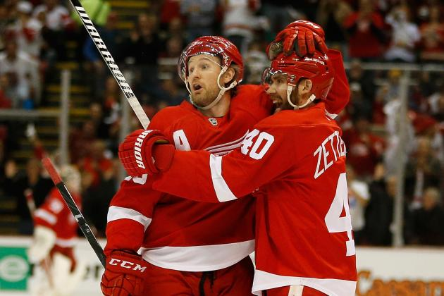 Early Grades for Detroit Red Wings' Top Stars in 1st Round of NHL Playoffs