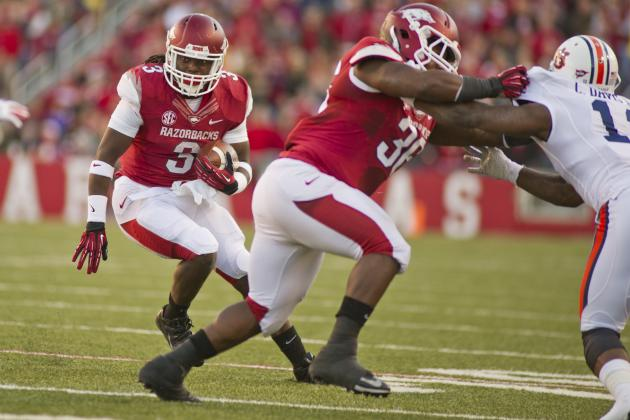 Arkansas Football: Predicting Razorbacks' 2014 2-Deep Depth Chart