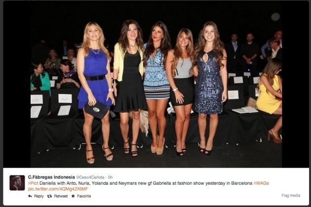 Barcelona WAGs Steal the Show at Catalonian Fashion Show