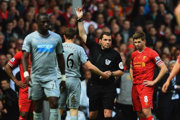 Premier League Week 38 Standout Stats: Phil Dowd's 5-Card Trick