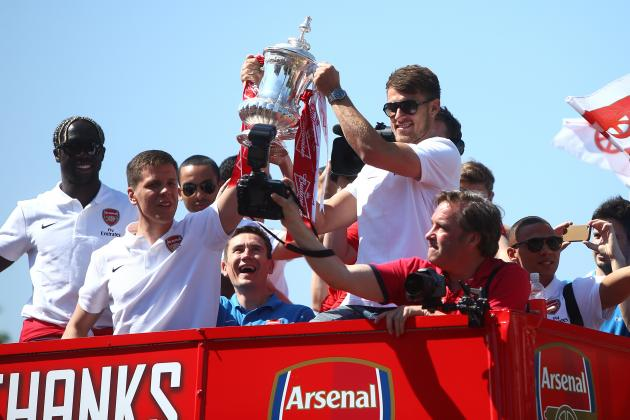 Best Photos as Arsenal Celebrate FA Cup with Parade Around Islington