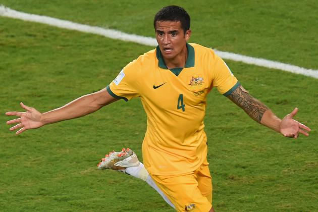 Comparing Tim Cahill's Brilliant Goal to the 10 Best from the Last World Cup